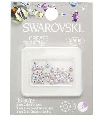 Swarovski Create Your Style 36 pk Flat Back Rhinestones-Aurora Borealis
