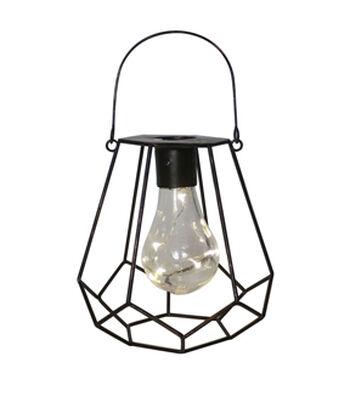 In the Garden Diamond Shaped Hanging Solar Lantern