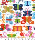 Snuggle Flannel Fabric 42\u0027\u0027-Girlie Butterflies