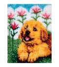 Wonderart Latch Hook Kit 15\u0022X20\u0022-Flower Pup