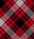 Blizzard Fleece Fabric -Annie Plaid Red