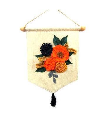 Simply Autumn Floral Linen Banner