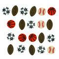 Jesse James Dress It Up Button Embellishments-Tiny Sports Equipment