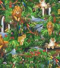 Novelty Cotton Fabric -Jungle Animals