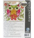 Whimsical Owl Mini Needlepoint Kit 5\u0022X5\u0022 Stitched In Thread