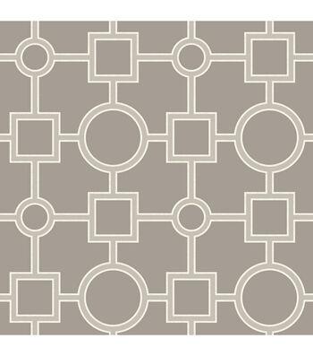 WallPops NuWallpaper Taupe Utopia Geo Peel  & Stick Wallpaper