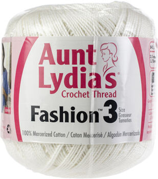 Aunt Lydia's Fashion 12 pk Crochet Threads Size 3-White