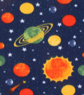 Blizzard Fleece Fabric -Planets & Stars