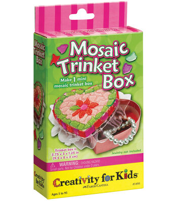 Creativity For Kids Activity Kits-Mosaic Trinket Box