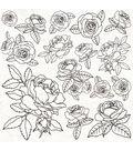 Peachy Spot Varnish Cardstock 12\u0022X12\u0022-Gloss Roses