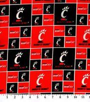 "University of Cincinnati Bearcats Cotton Fabric 43""-Block, , hi-res"