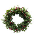 Blooming Holiday Christmas 23\u0027\u0027 Frosted Eucalyptus Wreath with Berries