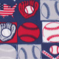 Blizzard Fleece Fabric-American Baseball Patch