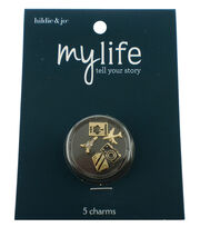 hildie & jo My Life 5 Pack Travel Silver Locket Charms, , hi-res
