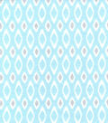 Snuggle Flannel Fabric -Geometric Print on Blue