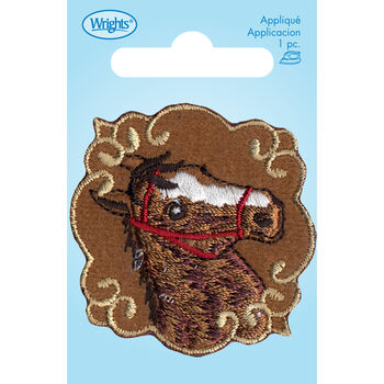 Wrights Iron-On Applique-Brown Horse Patchett