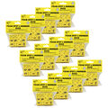 Foam Spot & Number Dice, 16mm, Yellow, 12 Per Pack, 12 Packs