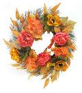 Blooming Autumn Peony, Hydrangea, Anemone, Berries & Twig Mix Wreath