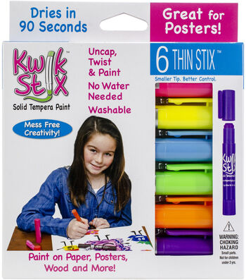 Kwik Stix ThinStix Tempera Paint 6/pkg-Neon