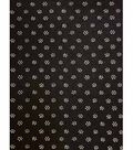 Knit Fabric 57\u0027\u0027-White Dot Flowers on Black