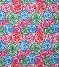 Novelty Cotton Fabric-Pink Tie Dye Bursts Glitter