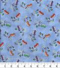 Snuggle Flannel Fabric 43\u0027\u0027-Mini Campers on Blue