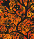 Halloween Cotton Fabric -Haunted Forest Glitter