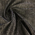 Metallic Textured Jacquard Fabric-Gold & Black