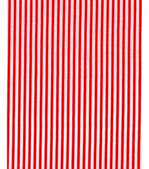 Christmas Cotton Fabric -Red Stripe