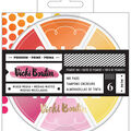 Vicki Boutin Mixed Media Color Wheel Pigment Ink Pads 6/Pkg-Warm Tones