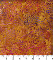 Legacy Studio Indonesian Batiks Cotton Fabric -Rusitc Floral Stems, , hi-res