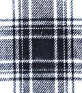 Plaiditudes Brushed Cotton Apparel Fabric -White & Black Plaid