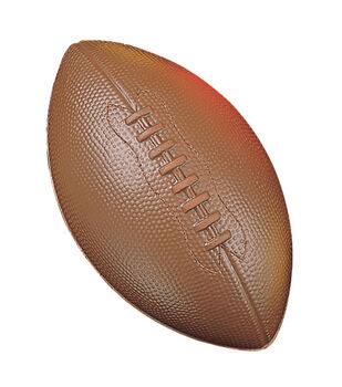Champion Sports 10'' High Density Coated Foam Football-Brown