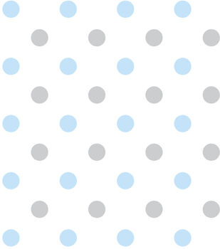 Nursery Flannel Fabric 43 Hy Dots Blue