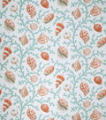 Home Decor 8\u0022x8\u0022 Fabric Swatch-Eaton Square Coral & Shells-Teal Opt