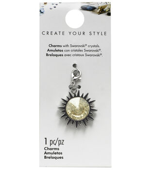 Swarovski Create Your Style Round Sun Charm-Gold Shadow Crystal
