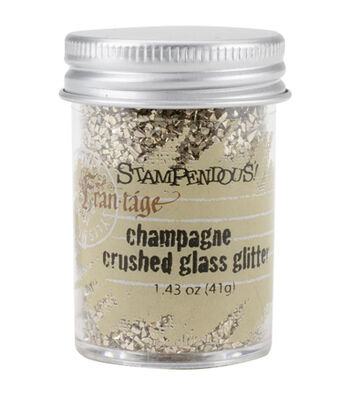 Stampendous Frantage Crushed Glass Glitter 1.41oz-Champagne