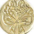 Manuscript Decorative Seal Coin-Spring Flowers