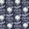 Harry Potter Flannel Fabric-Marauders Map
