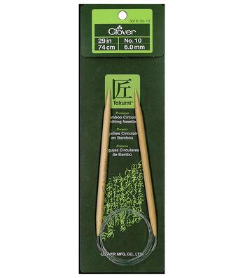 "Clover Bamboo Circular Knitting Needles 29""-Size 10"