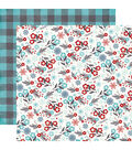 Echo Park Paper Company A Perfect Winter 25 pk Cardstock-Floral Flurries