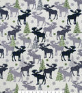 Snuggle Flannel Fabric 42\u0027\u0027-Patterned Black Watch Moose
