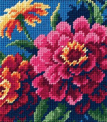 Dimensions Mini Needlepoint Kit Zinnias