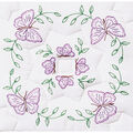 Stamped White Quilt Blocks 18\u0022X18\u0022 6/Pkg- Circle Of Butterflies