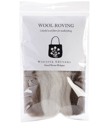 "Wool Roving Stripe 12"" .25oz-Furry Friends 2"