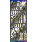 Sticko Futura Foil Dimensional Alphabet Stickers-Gold Stripe