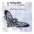 IndigoBlu 5.5\u0027\u0027x2.5\u0027\u0027 Mounted Rubber Stamp-Giant Moth-Clarice