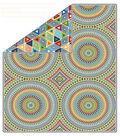 No-Sew Throw Fleece Fabric 72\u0022-Badabing Vogal Confetti