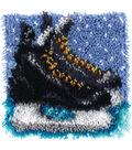 Wonderart Latch Hook Kit 12\u0022X12\u0022-Hockey Skates