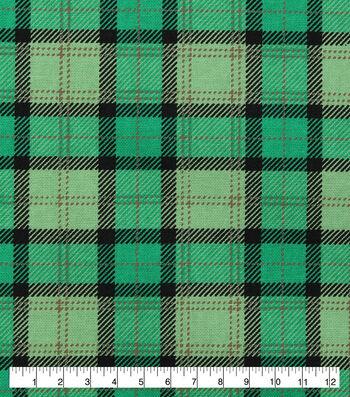 St. Patrick's Day Cotton Fabric-St Pats Buffalo Plaid